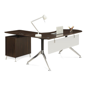 "Astoria Modern Curved Collaboration 71""W L-Desk"
