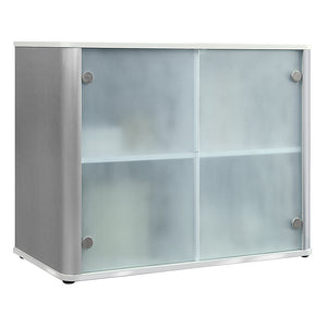 Brilliant Glass Door Storage Cabinet with LED Lights
