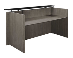 Diamond Wood Veneer Reception Desk