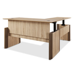 "Allure 66"" x 30"" Full Surface Height Adjustable and Reversible L-Desk"