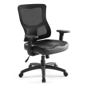 Ranier Initial Mesh Back Leather Seat Task Chair