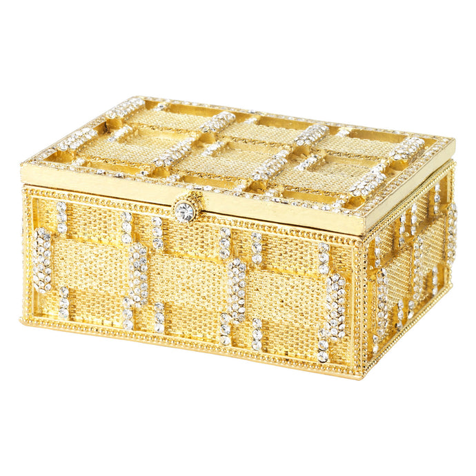 Gold Carlyle Box By Olivia Riegel