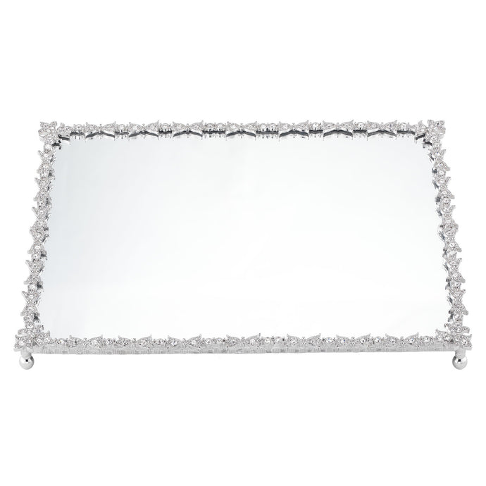 Luxembourg Mirror Tray Silver By Olivia Riegel