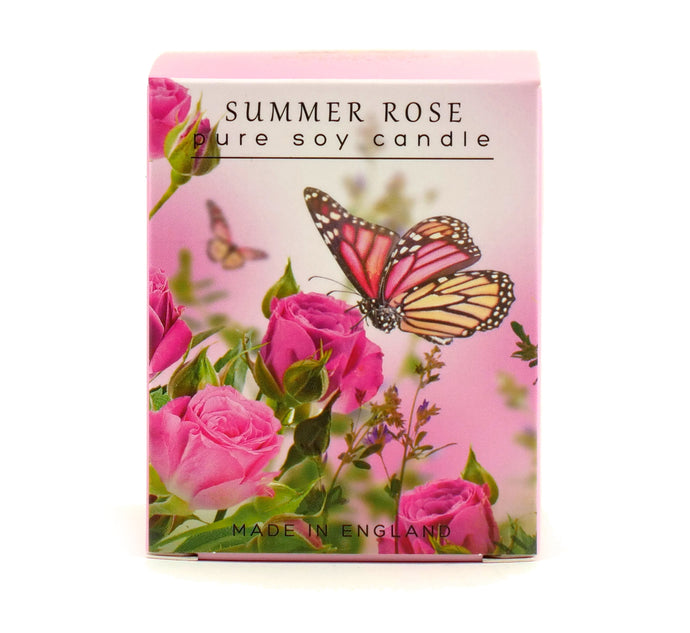 Summer Rose Candle By The English Soap Co