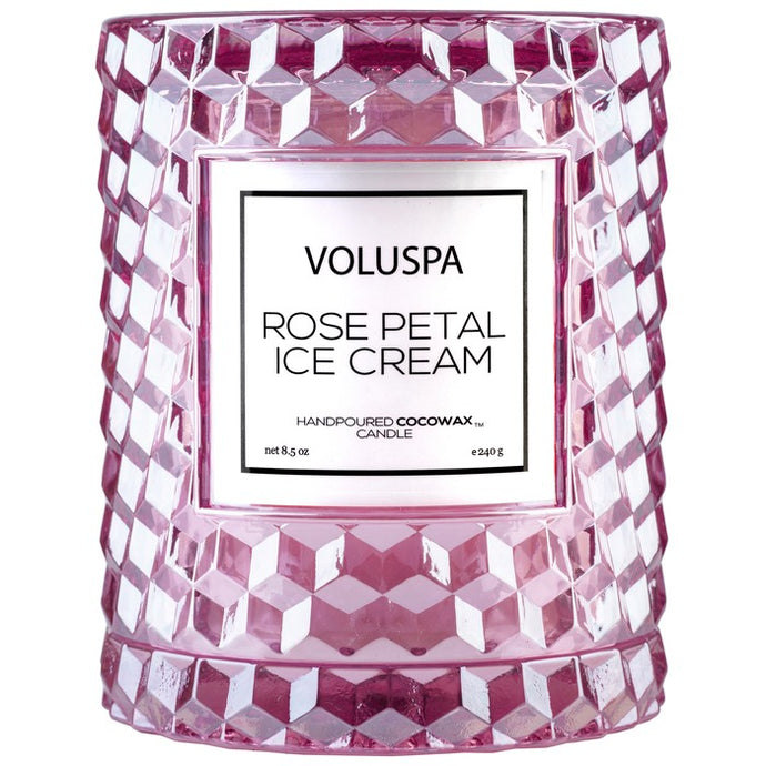 Voluspa Rose Petal Ice Cream 8.5oz Candle