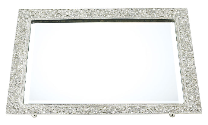 Silver Windsor Mirror Tray By Olivia Riegel