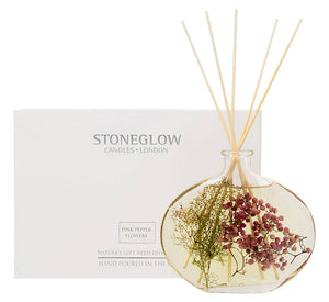 Stoneglow Nature's-Gift Pink Pepper Flowers Reed Diffuser 200 ML