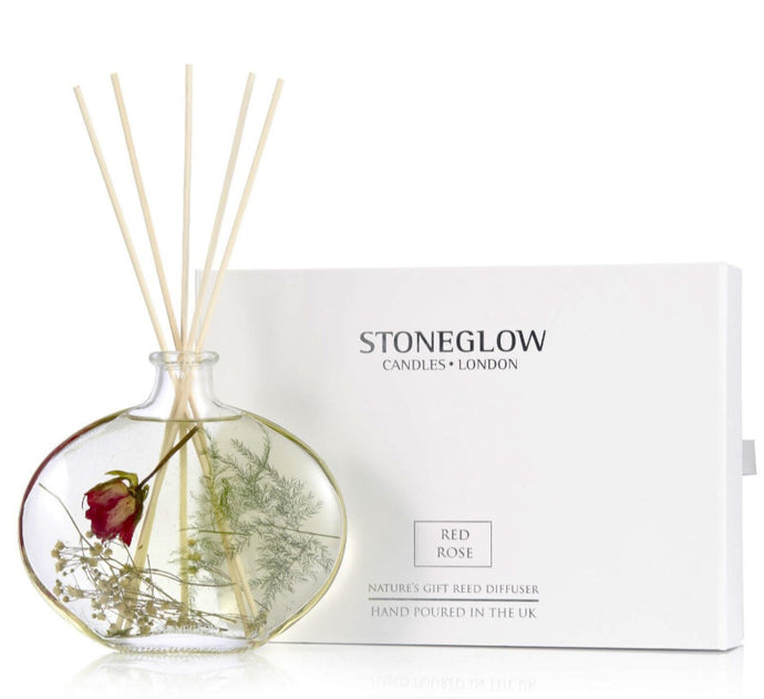 Stoneglow Red Rose Natures Gift Reed Diffuser 200 ML