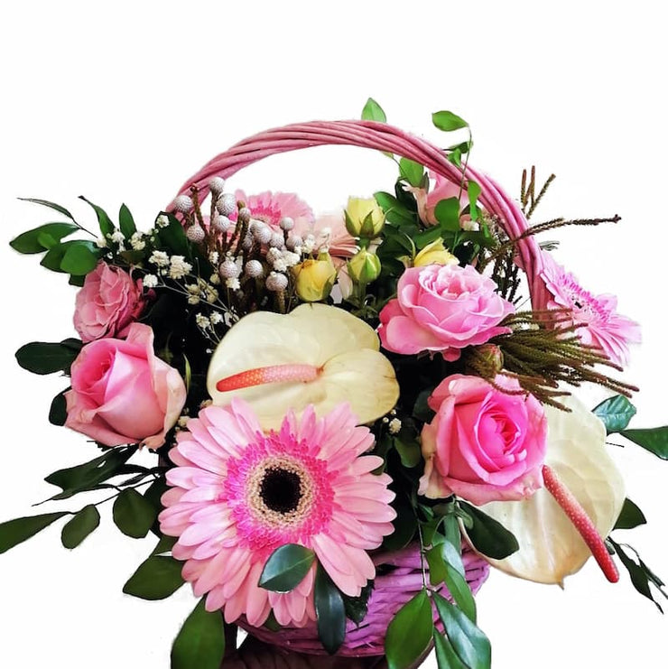Flower Basket - Panier Rose