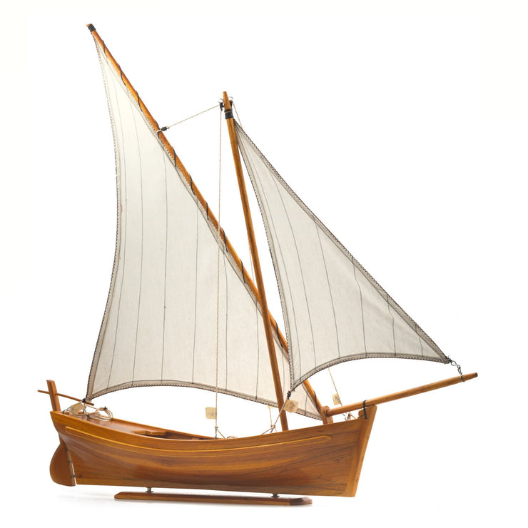 "Mauritius-Handmade-Ship-Model-Traditional Pirogue ""Kingfisher""-DodoMarket-Souvenirs"