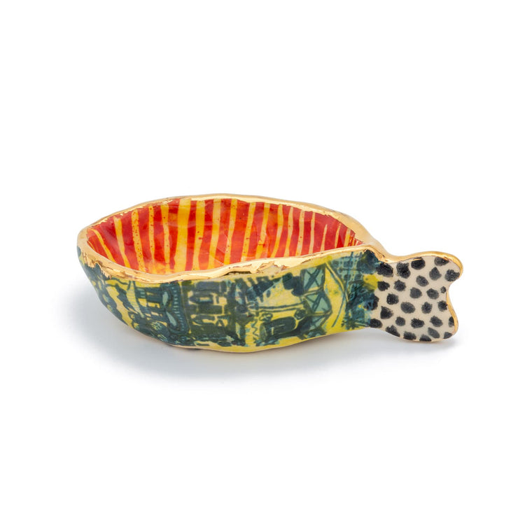 "Mauritius-Handmade-Ceramic-Oyster Bowl ""Coral""-DodoMarket-Souvenirs"
