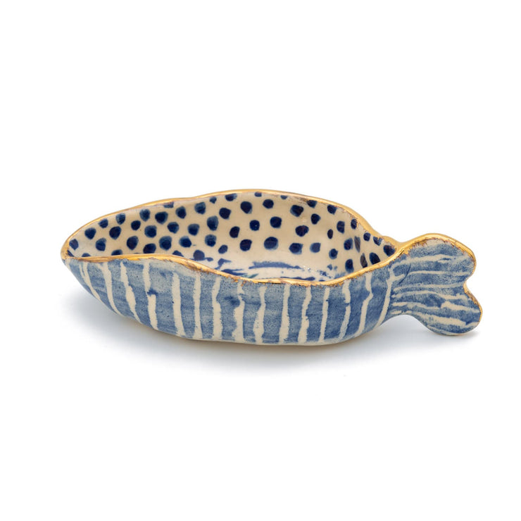 "Mauritius-Handmade-Ceramic-Oyster Bowl ""Ocean Dream"" - Large-DodoMarket-Souvenirs"