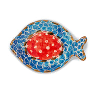 "Mauritius-Handmade-Ceramic-Serving Oval Plate ""Gold Fish""-DodoMarket-Souvenirs"