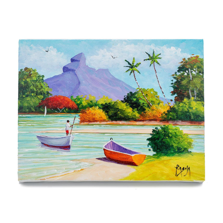 "Mauritius-Authentic-HandMade-Painting-Pino Ragusa, ""Montagne du Rempart""-DodoMarket"