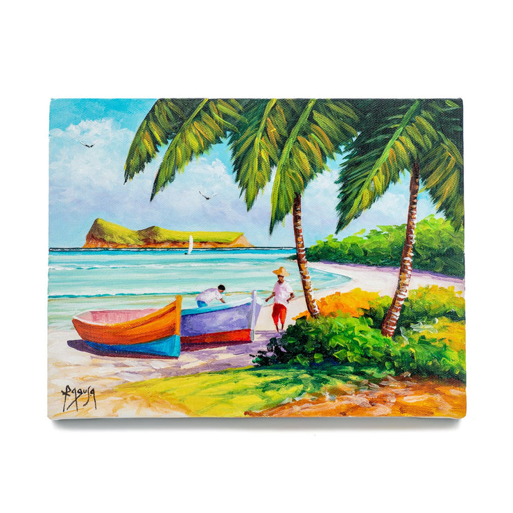 "Mauritius-Authentic-HandMade-Painting-Pino Ragusa, ""Coin de Mire""-DodoMarket"