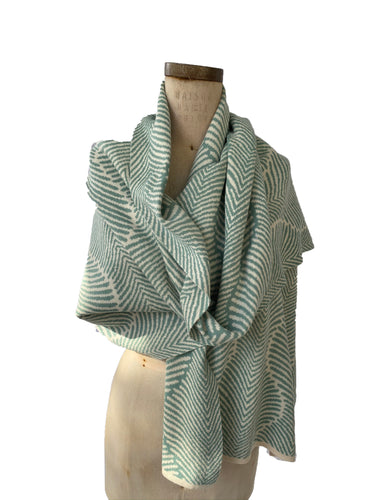 Forest Fern Wrap Aqua + Cream