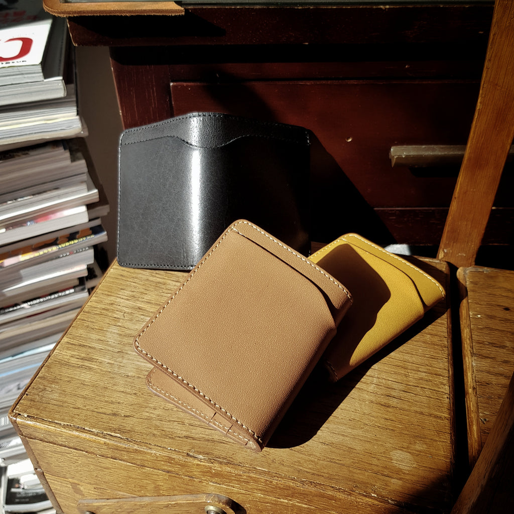 Outer Bi-Fold Leather Wallet, An Original Design