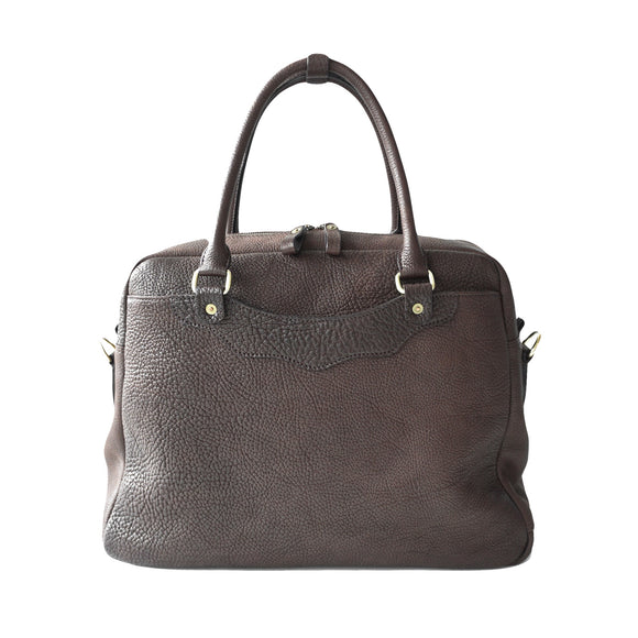 OGL 9981 LEATHER ZOTE BAG SEPIA