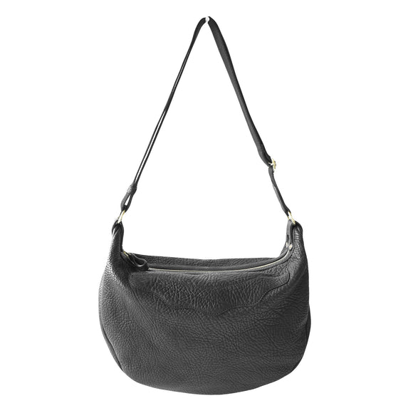 OGL 9981 LEATHER HOBO-X BAG BLACK