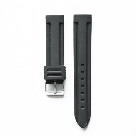 OGL WTC HEAVY DUTY SILICONE WATCH STRAP BLACK