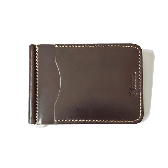 OGL BRAVE SHELL CORDOVAN MONEYCLIP WALNUT (HAND-STITCH)