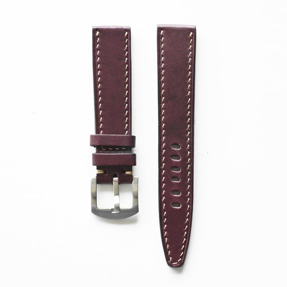 OGL WTC HANDSTITCH BUTTERO WATCH STRAP WINE