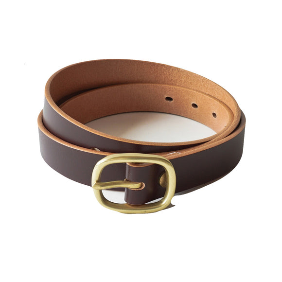 OGL BELT OBBIES LEATHER BELT HAND-DYED BROWN