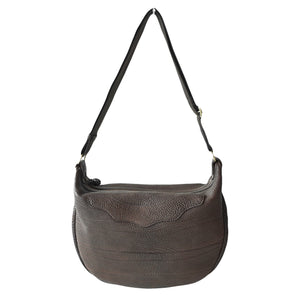 OGL 9981 LEATHER HOBO-X BAG SEPIA