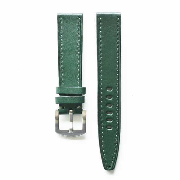 OGL WTC HANDSTITCH BUTTERO WATCH STRAP GREEN