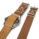 SQUADRON STRAPS BLENHEIM LEATHER NATO STRAPS SAHARA