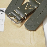 SQUADRON STRAPS BLENHEIM LEATHER NATO STRAPS OLIVE
