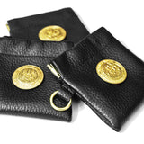 OGL ONLY GOOD LIFE SPRING-CLASP LEATHER POUCH