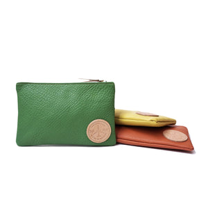 OGL ONLY GOOD LIFE FLYING ZIPPER COLOUR LEATHER POUCH