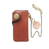 OGL CONDOR LONG LEATHER WALLET YANKEE CUOIO
