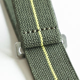 OGL WTC MARINE NATIONALE PARACHUTE WATCH STRAP OLIVE/YELLOW