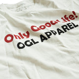 OGL APPAREL ONLY GOOD LIFE T-SHIRT CREAM (2020 LOT 1)