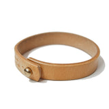 OGL ONLY GOOD LIFE NATURAL SINGLE-LOOP LEATHER BRACELET