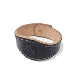 OGL ONLY GOOD LIFE HAND-DYED LOGO LEATHER CUFF