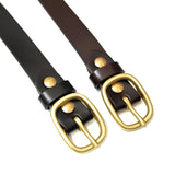 OGL ONLY GOOD LIFE DRESS NARROW BRASS BUCKLE LEATHER BELT