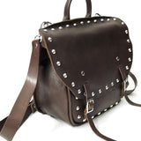 OGL 9981 MTO STUD MTC LEATHER BAG BROWN