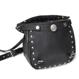 OGL 9981 MTO STUD MTC LEATHER BAG BLACK