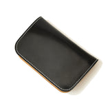 OGL BRAVE SHELL CORDOVAN MID LEATHER WALLET BLACK