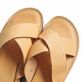 OGL/DR SOLE CROSS STYLE LEATHER SANDALS NATURAL