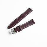 OGL WTC HANDSTITCH BUTTERO WATCH STRAP WINE VTG 20-16MM