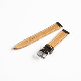 OGL WTC HANDSTITCH SHELL CORDOVAN WATCH STRAP NO.8 VTG 20-16MM