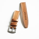 OGL WTC HANDSTITCH BUTTERO WATCH STRAP MUSTARD BROWN