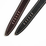 OGL WTC HANDSTITCH SHELL CORDOVAN WATCH STRAP BLACK