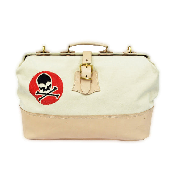 OGL 9981 DOCTOR'S BAG HAND DRAWN SKULL OFF-WHITE