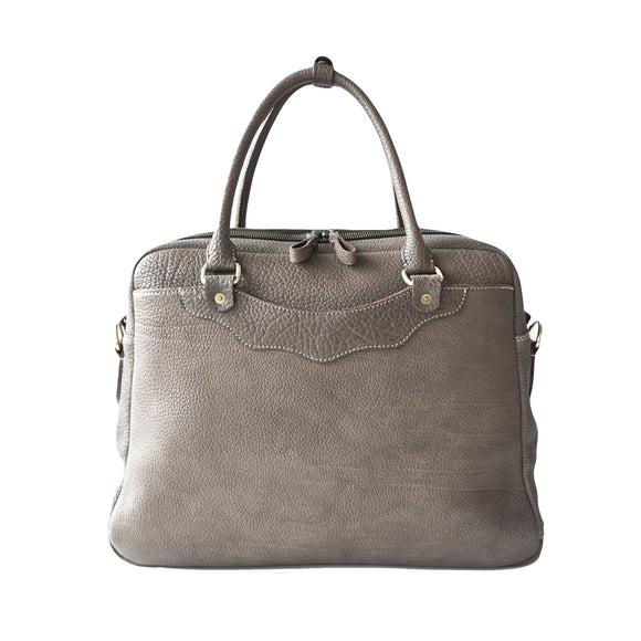 OGL 9981 LEATHER ZOTE BAG ELEPHANT GREY
