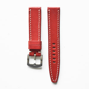 OGL WTC HANDSTITCH BUTTERO WATCH STRAP RED